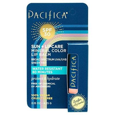 Pacifica Sun + Lip Care SPF 30 Mineral Color Peach 0.15oz