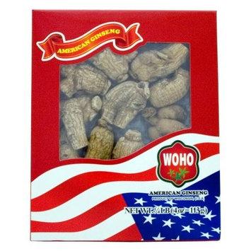 WOHO #109.4 Short Jumbo American Ginseng Roots 4oz Box