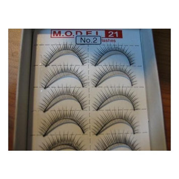 Model 21 False Eyelashes No. 2, 10 Pairs