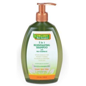 Organic Hair Energizer 5 In 1 Rejuvenating Shampoo, 13 Ounce