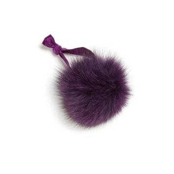 Girl's Fur Pom-Pom Elastic Ponytail Holder