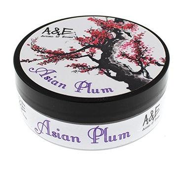 Ariana & Evans Goat's Milk and Lanolin Shaving Soap, Asian Plum