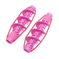 uxcell 2 Pcs Pink Plastic DIY Home Twist Shape Hair Wavy Curlers Rollers Clips Hairstyle Maker Tools