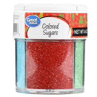 Wal-mart Stores, Inc. Great Value 4 Cell Colored Sugars, 4.4 oz