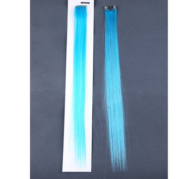 Neitsi 10pcs 18inch Colored Highlight Synthetic Clip on in Hair Extensions #F16 Light Blue