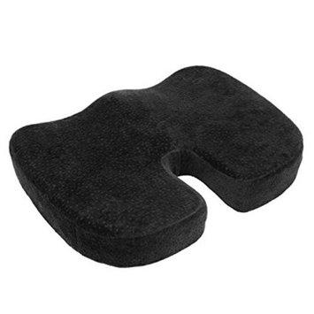 Aurora Health & Beauty AW203 Black Orthopedically Back Designed Memory Foam Coccyx Cushion Seat