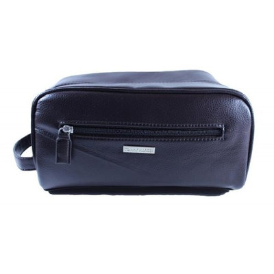 Mens Tommy Hilfiger Travel Kit Overnight Shaving Toiletry Case Dark Brown