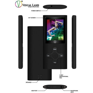 Visual Land, Inc Visual Land VL-G4 4GB MP3/MP4