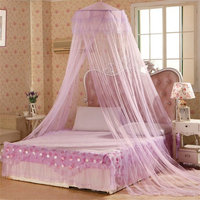 Gilroy Dome Round Mosquito Netting for House Bedding Decor Fly Insect Protection - Purple