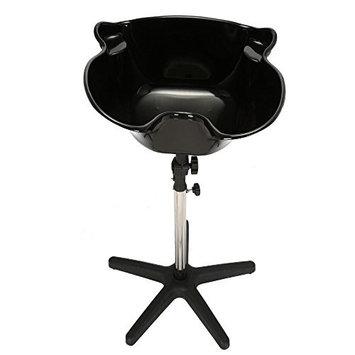 Anself Salon Portable Shampoo Sink Spa Deep Hair Shampoo Bowl Basin Adjustable Height Basin with Drain