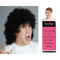 Michael Rock Band color BLACK - Enigma Wigs 80s Rocker Hair Band Slash Mens Bundle with Cap, MaxWigs Costume Wig Care Guide