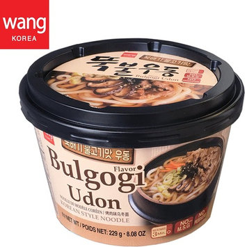 Korean Style Fresh Cup Noodle Udon [Healthy, Convenient] Easy Cook Bowl in 3 Minutes / 8.08 oz per Meal (Pack of 6) - Bulgogi (Marinated Beef) Flavor