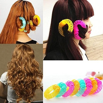 8pcs/set Hair Rollers Curlers Self Grip Hairdressing Curlers Hair Design Sticky Cling Style For DIY or Hair Salon
