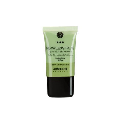Absolute New York Flawless Face Foundation Primer, Green, 0.8 Oz