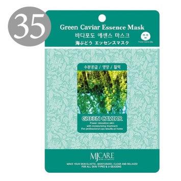 The Elixir Beauty The Elixir MJ Care Korean Beauty Cosmetic Green Caviar Hydrating Face Sheet Mask Sheet (23g, 35 Sheets) (Pack of 35)