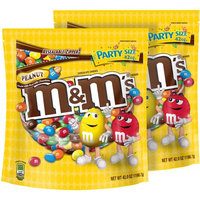 Mars Chocolate M'S Peanut Chocolate Candy, 42 oz, (Pack of 2)
