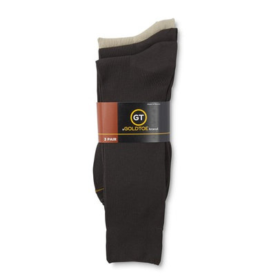 Gold Toe Men's 3-Pairs Fashion Crew Socks