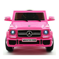 2017 Licensed Mercedes G65 AMG Electric Kids Ride-On Car, MP3 Player, AUX Input, Rubber Tires, PU Leather Seat With 5 Point Safety Harness, 12V Battery Powered, Parental Remote   Pink
