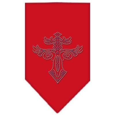 Mirage Pet Products 6779 LGRD Warriors Cross Rhinestone Bandana Red Large