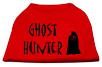 Mirage Pet Products 511303 SMRD Ghost Hunter Screen Print Shirt Red with Black Lettering Sm 10