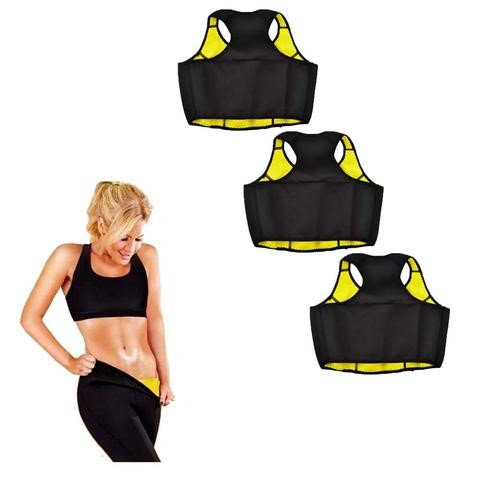 Global Digitrade Buy Two Thermo Slim Workout Crop Tops and Get a Third One Free - Medium (Pack of 3)