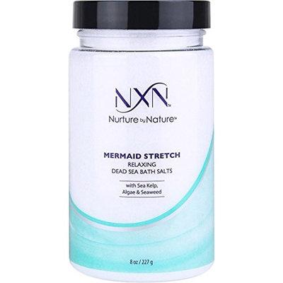 NxN Mermaid Stretch Relaxing Dead Sea Bath Salts Mineral Soaking Solution Infused with Organic Sea Kelp, Algae & Seaweed, 8 Oz