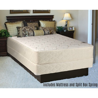 Continental Sleep Orthopedic Long Lasting 10 in. Innerspring Mattress and Split Box Spring
