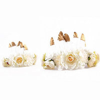 Mom and me feather flower headdress Summer Style Mommy and child Matching Garland Hair Accessories