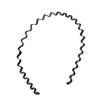 Demarkt Black Spring Wave Metal Hoop Unisex Hair Band Girl Men`s Head Band Accessory