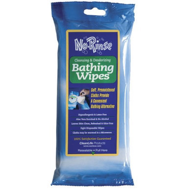 Cleanlife Products (8 Packs) No Rinse Bathing Body Cleansing & Deodorizing Wipes - 64 Total