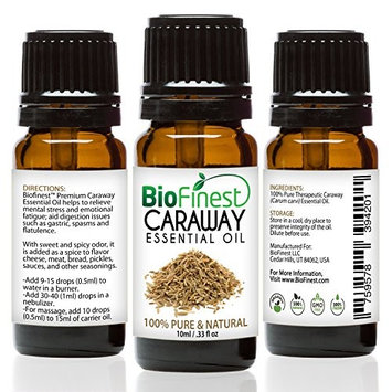 Biofinest Caraway Essential Oil - 100% Pure Undiluted, Premium Organic, Therapeutic Grade - Best for Aromatherapy, antioxidant, Boost Immune System, Soothe Headache & Fatigue - Free E-Book