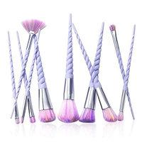 TAVLAR 10pcs Unicorn Spiral Makeup Brushes Set Eyeshadow Powder Brushes kit