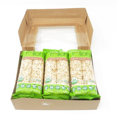 Organic Brown Crunchy Rice Rollers Delicious Snack Non GMO, Gluten Free 6 Packs (Total 12 pieces)