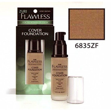 Zuri Flawless Cover Foundation - Honey Brown (Pack of 2)