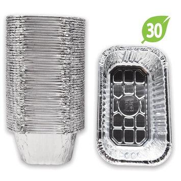 (30 Pack) Premium Aluminum Foil 1-LB Bread Loaf Pans l Mini Size 6.1