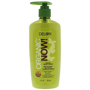 DELON LABORATORIES Organic Now Body Wash, Clear, 11 Ounce