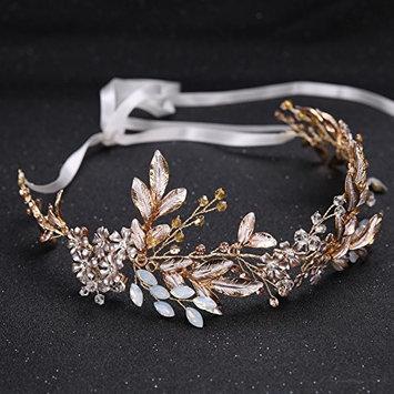 TOOGOO Gold Alloy Imitation Crystal Bead Flower Bride Headbands Hair Princess Wedding Hairband Bridal Hairbands Hair Accessories Crown