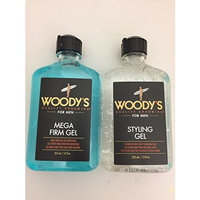 Woody's Quality Grooming for Men, Mega Firm Gel & Styling Gel (12 Ounce)