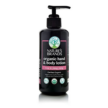 Herbal Choice Mari Organic Hand & Body Lotion, Rose & Ylang Ylang; 6.8floz