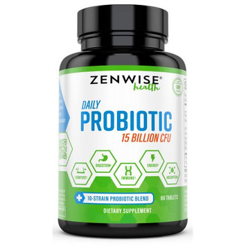Zenwise Health Probiotic 15 Billion CFU Tablets, 60 Ct