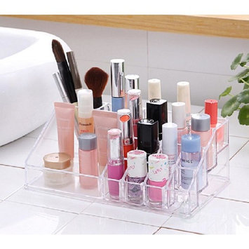 Basicwise 8 in. x 3 in. Acrylic Cosmetic Makeup Storage and Organizer