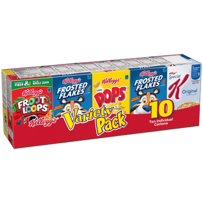 Kellogg Sales Company Kellogg's Assorted Cereal Variety Pack, 10 count, 10.94 oz