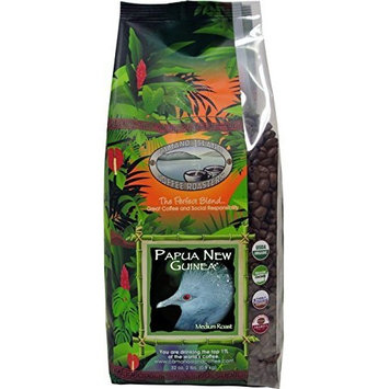 Camano Island Coffee Roasters, Organic Papua New Guinea Medium Roast, Whole Bean, 2 Lb [Whole Bean]
