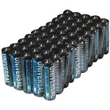 UNIVERSAL BATTERY D5622 Super Heavy-Duty Battery Value Box (AA 50-pk)