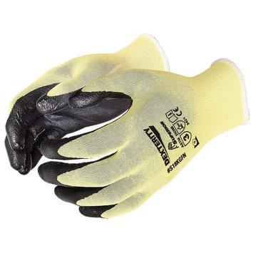 DEXTERITY ULTRAFINE 18-GAUGE CUT-RESISTANT KEVLAR GLOVE WITH FOAM NITRILE PALM BLACK 09