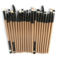 ❀Jinjiu False Lashes❀,20 pcs fashion sexy portable lazy Makeup Brush Set tools Make-up Toiletry Kit Wool Make Up Brush Set for party shows (B): Beauty