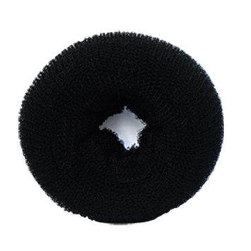 SaveGoodBuy 1PCS Hair Donut Mesh Chignon Bun Maker (Black Color--3 Size for Choose) (Medium(7-8 diameter))