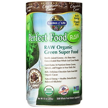 Garden of Life Vegan Green Superfood Powder - Raw Organic Perfect Whole Food Dietary Supplement, Chocolate, 11.9oz (337g) Powder