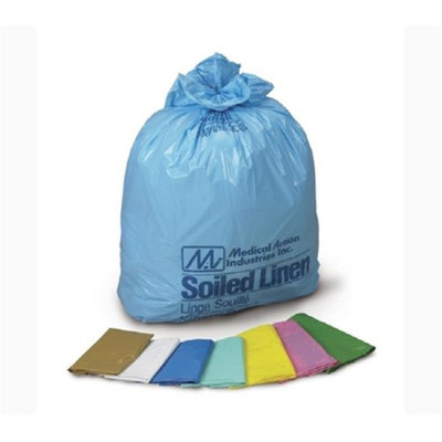 Medegen Medical MAI 211M 25 x 34 in. Laundry & Linen Bags White & Blue - 250 per Case