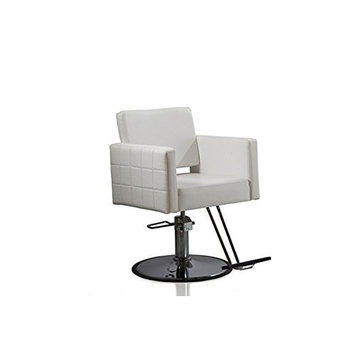 Funnylife White Hydraulic Styling Hair Barber Chair